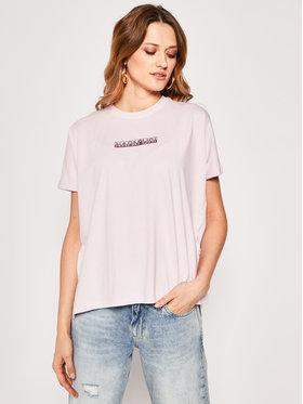 Napapijri Napapijri T-Shirt Sione NP0A4E3SP Różowy Oversize