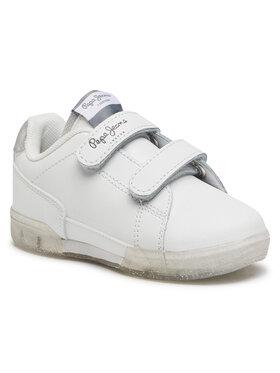 Pepe Jeans Pepe Jeans Sneakers Lambert Girl Glitter PGS30500 Alb