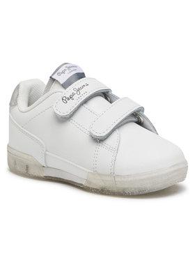 Pepe Jeans Pepe Jeans Sneakersy Lambert Girl Glitter PGS30500 Biały