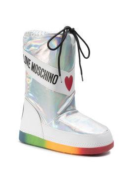 LOVE MOSCHINO LOVE MOSCHINO Śniegowce JA24012G1BIX1902 Srebrny