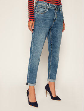 Pepe Jeans Pepe Jeans Jeansy Carrot Fit PEPE ARCHIVE Violet Mom PL201742 Tmavomodrá Mom Fit