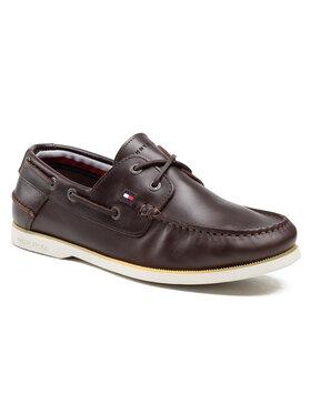 Tommy Hilfiger Tommy Hilfiger Chaussures basses Classic Leather Boat Shoe FM0FM02735 Marron