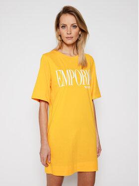 Emporio Armani Emporio Armani Kleid für den Alltag 262676 1P340 15362 Gelb Regular Fit