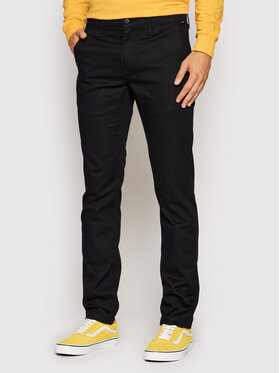 Vans Vans Чино панталони Authentic VN0A5FJ7 Черен Slim Fit
