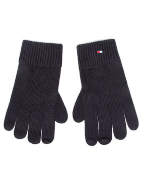 Tommy Hilfiger Tommy Hilfiger Gants homme Pima Cotton Gloves AM0AM06591 Noir