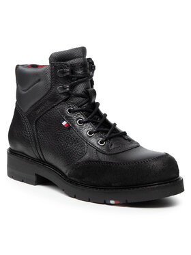 Tommy Hilfiger Tommy Hilfiger Trzewiki Warm Classic Sneakers Cut FM0FM03818 Czarny