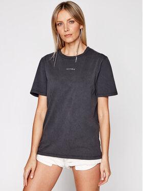 IRO IRO Marškinėliai Perry A0283 Juoda Regular Fit