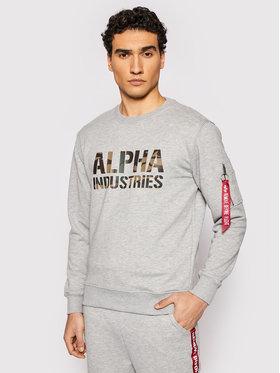 Alpha Industries Alpha Industries Sweatshirt Camo Print 176301 Gris Regular Fit