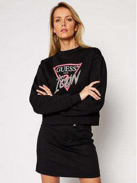 Guess Guess Bluza Icon Fleece W1RQ04 K68I0 Czarny Regular Fit