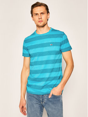 Tommy Jeans Tommy Jeans T-Shirt Bold Stripe Tee DM0DM07810 Blau Regular Fit
