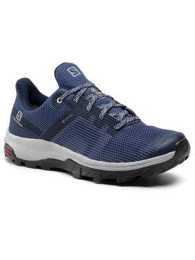 Salomon Salomon Chaussures de trekking Outline Prism Gtx W GORE-TEX 411214 20 M0 Bleu marine