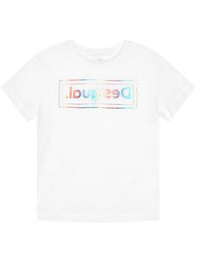 Desigual Desigual Marškinėliai Viena 21SGTK19 Balta Regular Fit