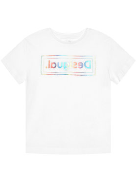 Desigual Desigual T-shirt Viena 21SGTK19 Blanc Regular Fit