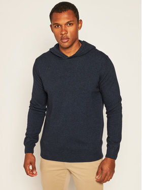 Oscar Jacobson Oscar Jacobson Maglione Pascal Hoodie 6765 4954 Blu scuro Regular Fit