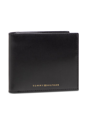Tommy Hilfiger Tommy Hilfiger Duży Portfel Męski Casual Leather Cc Flap And Coin AM0AM07805 Czarny