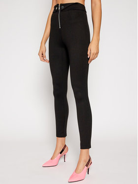 Guess Guess Bavlnené nohavice Phoebe W0BB63 K8RN0 Čierna Slim Fit