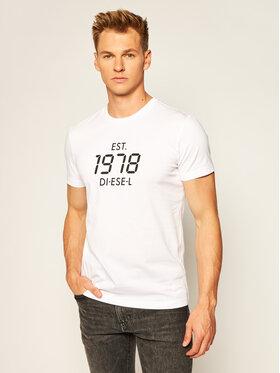 Diesel Diesel Tricou T-Diegos A00297 0HAYU Alb Regular Fit