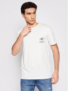 Quiksilver Quiksilver T-Shirt Beal Ss Tee EQYKT04117 Bílá Regular Fit