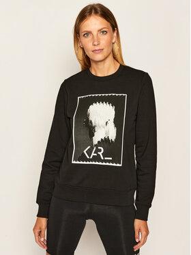 KARL LAGERFELD KARL LAGERFELD Sweatshirt Legend Print 205W1812 Schwarz Regular Fit