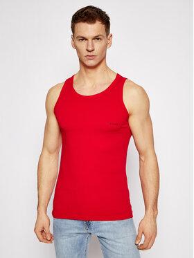 Versace Versace Tank top marškinėliai Canotta AUU04022 Raudona Slim Fit