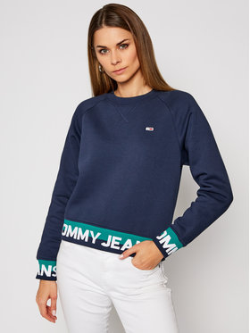 Tommy Jeans Tommy Jeans Džemperis Branded Hem DW0DW08979 Tamsiai mėlyna Relaxed Fit