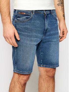 Wrangler Wrangler Szorty jeansowe Texas W11CU542Q Niebieski Regular Fit