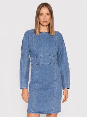 Gestuz Gestuz Džinsinė suknelė Eline 10905537 Mėlyna Slim Fit