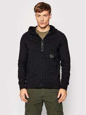 C.P. Company C.P. Company Sweatshirt Metropolis Diagonal Raised 11CMSS175A 005086W Schwarz Regular Fit