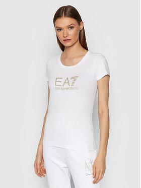 EA7 Emporio Armani EA7 Emporio Armani T-shirt 8NTT63 TJ12Z 0102 Blanc Slim Fit
