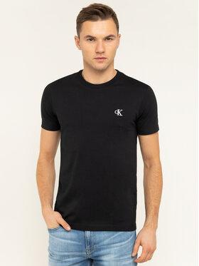 Calvin Klein Jeans Calvin Klein Jeans Póló Tee Shirt Essential J30J314544 Fekete Slim Fit