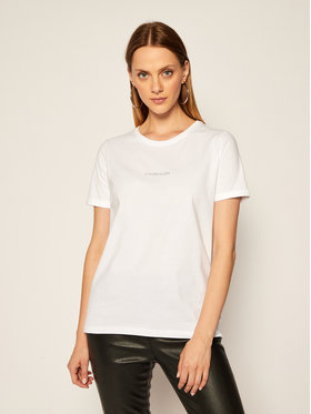 Calvin Klein Calvin Klein Marškinėliai 3D Metallic Logo K20K202156 Balta Regular Fit