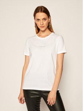Calvin Klein Calvin Klein T-Shirt 3D Metallic Logo K20K202156 Bílá Regular Fit
