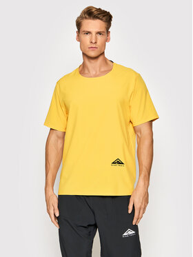 Nike Nike Funkčné tričko Rise 365 CZ9050 Žltá Standard Fit
