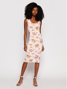Versace Jeans Couture Versace Jeans Couture Každodenní šaty D2HWA409 Růžová Slim Fit