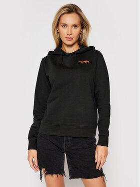 Wrangler Wrangler Sweatshirt Vibrations W610H1100 Schwarz Regular Fit