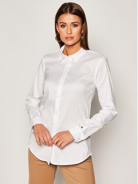 Tommy Hilfiger Tommy Hilfiger Marškiniai Heritage Regular Fit Shirt 1M87647510 Balta Slim Fit