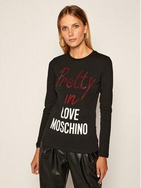 LOVE MOSCHINO LOVE MOSCHINO Μπλουζάκι W4G5218E 1951 Μαύρο Regular Fit