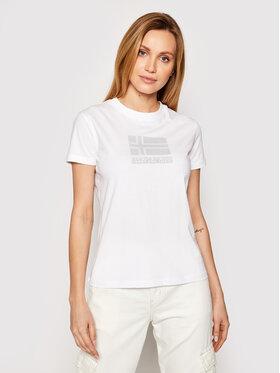 Napapijri Napapijri T-Shirt Seoll NP0A4FAI Biały Regular Fit