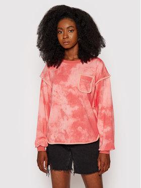 Converse Converse Sweatshirt Vented Fleece Crew 10021452-A01 Rose Oversize