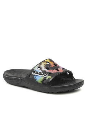 Crocs Crocs Παντόφλες Classic Crocs Tiedye Grphc Sld 206520 Μαύρο