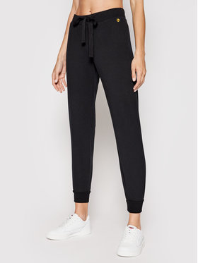 Deha Deha Teplákové kalhoty B24739 Černá Regular Fit