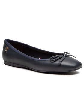 Tommy Hilfiger Tommy Hilfiger Balerinos Essential Square Toe Ballerina FW0FW05635 Tamsiai mėlyna