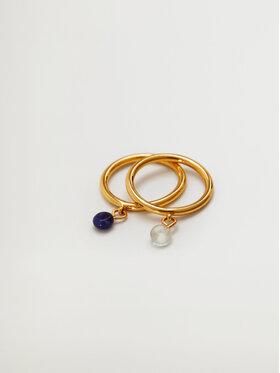 Mango Mango Zestaw 2 pierścionków Artemisa 17060167 Złoty