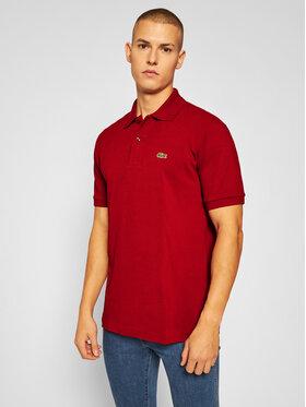 Lacoste Lacoste Тениска с яка и копчета L1212 Бордо Classic Fit