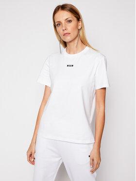 MSGM MSGM T-shirt 3041MDM100 217298 Blanc Regular Fit