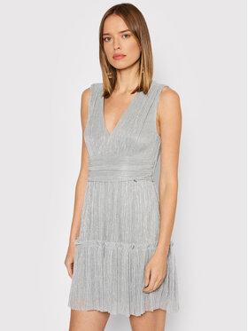 Rinascimento Rinascimento Sukienka koktajlowa CFC0104682003 Srebrny Regular Fit
