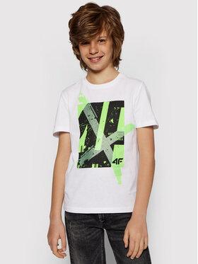 4F 4F T-shirt JTSM002 Bianco Regular Fit