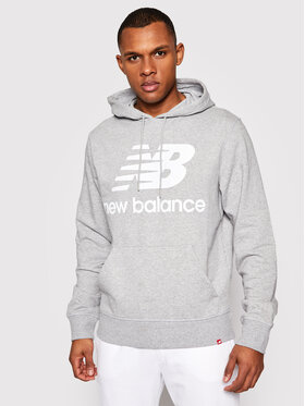 New Balance New Balance Mikina Essentials Stacked Logo Po MT03558 Sivá Athletic Fit