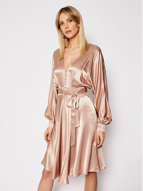 TwinSet TwinSet Rochie cocktail 202TP2140 Bej Loose Fit