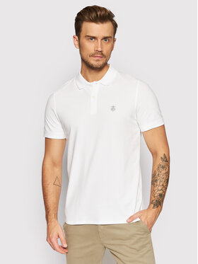 Selected Homme Selected Homme Тениска с яка и копчета Embroidery 16049517 Бял Regular Fit